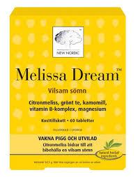 Sömnproblem - använd Melissa Dream