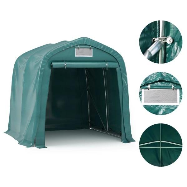 vidaXL Garagetält PVC 1,6x2,4 m grön