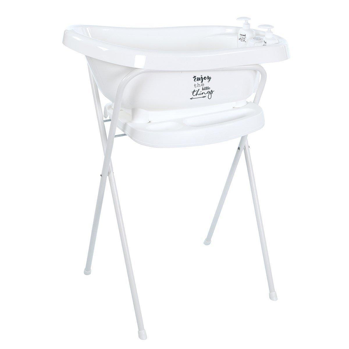 praktisk badbalja med stativ